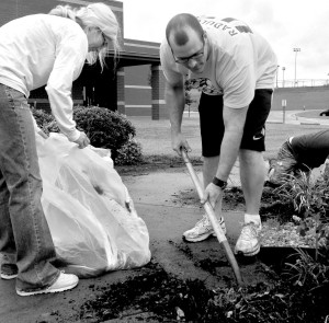 Our Nashville Campus gardening at Carter Lawrence Elementary